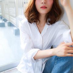 フェミニン 夏 リラックス ヘアアレンジ ヘアスタイルや髪型の写真・画像