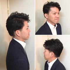 ショート メンズ オフィス ナチュラル ヘアスタイルや髪型の写真・画像