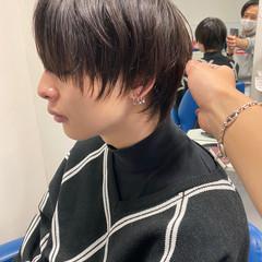 モード マッシュウルフ ウルフカット メンズ ヘアスタイルや髪型の写真・画像