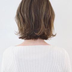 ナチュラル ボブ インナーカラー アンニュイほつれヘア ヘアスタイルや髪型の写真・画像