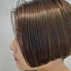 ナチュラル グレージュ ベージュ ショートヘア ヘアスタイルや髪型の写真・画像