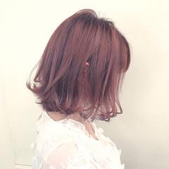 ミルクティー ニュアンス ボブ 色気 ヘアスタイルや髪型の写真・画像