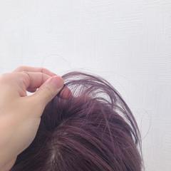ナチュラル ショート 簡単ヘアアレンジ ピンクベージュ ヘアスタイルや髪型の写真・画像