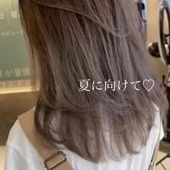 インナーカラー ハイトーン ハイライト ハイトーンカラー ヘアスタイルや髪型の写真・画像