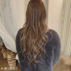 ゆるふわ 大人ハイライト エレガント ロング ヘアスタイルや髪型の写真・画像