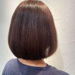 ミニボブ ショートヘア ショートボブ 縮毛矯正 ヘアスタイルや髪型の写真・画像