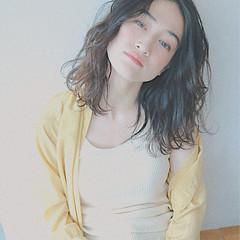 ミディアム ハイライト 大人女子 ロブ ヘアスタイルや髪型の写真・画像