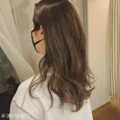 グラデーションカラー ゆるふわ デート ハイライト ヘアスタイルや髪型の写真・画像