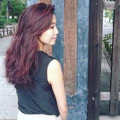イルミナカラー オーガニックカラー ロング ヘナカラー ヘアスタイルや髪型の写真・画像