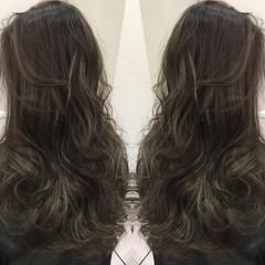 グラデーションカラー 暗髪 アッシュ ハイライト ヘアスタイルや髪型の写真・画像