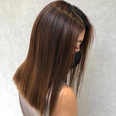 ミルクティーベージュ 髪質改善 ナチュラル 縮毛矯正 ヘアスタイルや髪型の写真・画像