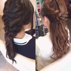 簡単ヘアアレンジ ロング ポニーテール ハーフアップ ヘアスタイルや髪型の写真・画像