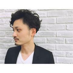 黒髪 パーマ モード ショート ヘアスタイルや髪型の写真・画像