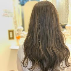 デート ウェーブ ゆるふわ セミロング ヘアスタイルや髪型の写真・画像