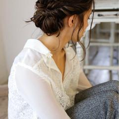 外国人風 アッシュ ヘアアレンジ 大人女子 ヘアスタイルや髪型の写真・画像