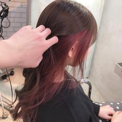 ラズベリーピンク ベリーピンク ピンクラベンダー ロング ヘアスタイルや髪型の写真・画像