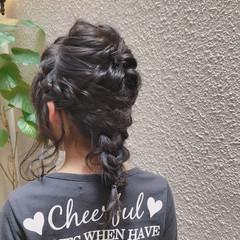 上品 結婚式 黒髪 ヘアアレンジ ヘアスタイルや髪型の写真・画像