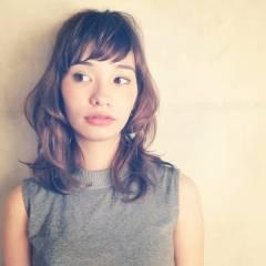 ゆるふわ ガーリー ミディアム 秋 ヘアスタイルや髪型の写真・画像
