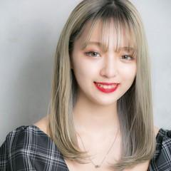 外国人風カラー ハイトーン ロング ハイトーンカラー ヘアスタイルや髪型の写真・画像
