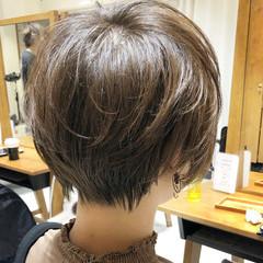 ショート ショートボブ 大人ショート ナチュラル ヘアスタイルや髪型の写真・画像