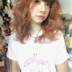 ガーリー 大人かわいい 外国人風 フェミニン ヘアスタイルや髪型の写真・画像