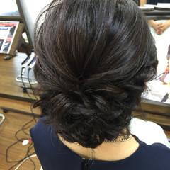 ヘアアレンジ パーティ ミディアム 上品 ヘアスタイルや髪型の写真・画像