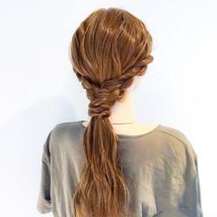 上品 ロング ヘアアレンジ 編み込み ヘアスタイルや髪型の写真・画像