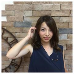 ストリート 大人女子 ミディアム 大人かわいい ヘアスタイルや髪型の写真・画像