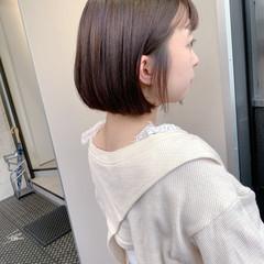 ボブ ショートヘア 透明感 髪質改善トリートメント ヘアスタイルや髪型の写真・画像