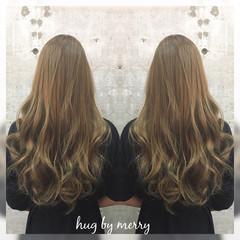 グラデーションカラー ハイライト ガーリー ロング ヘアスタイルや髪型の写真・画像