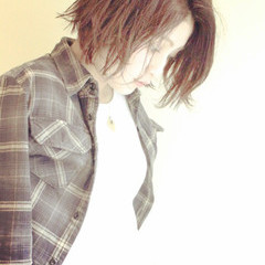 モード 抜け感 外国人風 アッシュ ヘアスタイルや髪型の写真・画像