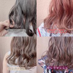 ナチュラル グレージュ アンニュイ ミルクティーグレージュ ヘアスタイルや髪型の写真・画像