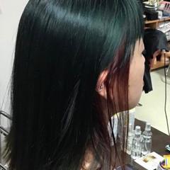 外国人風カラー ガーリー ターコイズ ターコイズブルー ヘアスタイルや髪型の写真・画像