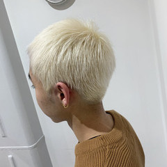 メンズカラー ストリート ホワイトアッシュ ダブルカラー ヘアスタイルや髪型の写真・画像