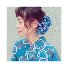 ミディアム ゆるふわ 花火大会 夏 ヘアスタイルや髪型の写真・画像