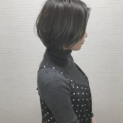 似合わせ コンサバ ハイライト ショート ヘアスタイルや髪型の写真・画像