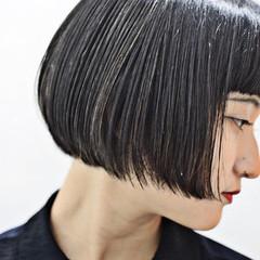 モード ショートボブ 大人グラボブ ミニボブ ヘアスタイルや髪型の写真・画像