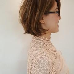 アンニュイ ボブ エレガント 上品 ヘアスタイルや髪型の写真・画像