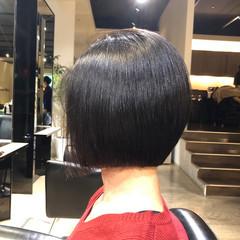 ボブ 艶髪 ナチュラル 内巻き ヘアスタイルや髪型の写真・画像