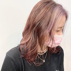 ストリート ハイトーンカラー ピンクブラウン ハイトーン ヘアスタイルや髪型の写真・画像