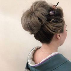 成人式 着物 エレガント 結婚式 ヘアスタイルや髪型の写真・画像