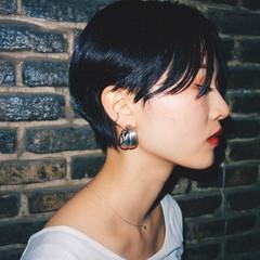 モード 大人ショート ショートヘア 黒髪ショート ヘアスタイルや髪型の写真・画像