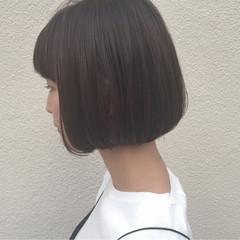 切りっぱなし 外国人風 アッシュ 黒髪 ヘアスタイルや髪型の写真・画像