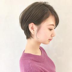 ナチュラル 簡単ヘアアレンジ 外ハネ ショート ヘアスタイルや髪型の写真・画像