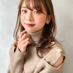 大人かわいい ミディアム ウルフカット 韓国ヘア ヘアスタイルや髪型の写真・画像