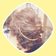 ヘアアレンジ ボブ 外国人風 編み込み ヘアスタイルや髪型の写真・画像