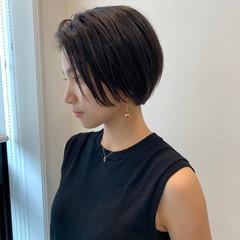 ショートボブ マッシュショート ハンサムショート ショート ヘアスタイルや髪型の写真・画像