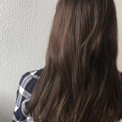 グラデーションカラー ブリーチ セミロング ダブルカラー ヘアスタイルや髪型の写真・画像