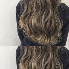 グラデーションカラー 冬 バレイヤージュ ハイライト ヘアスタイルや髪型の写真・画像