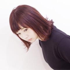 ダブルカラー ブリーチ 外国人風カラー レッド ヘアスタイルや髪型の写真・画像